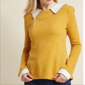 Freeway Wine Appreciation Sweater In Goldenrod
